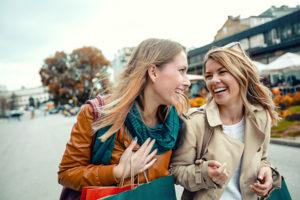 Women Shopping in Fall